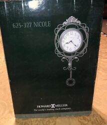 "Howard Miller Nicole 625-327 Wrought iron wall clock 23.5"" Bronze Gold New"