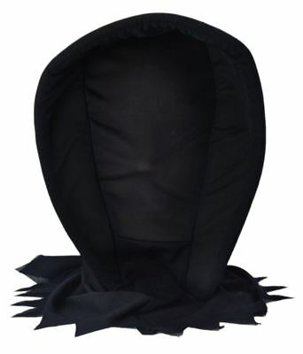 See Through Mask Halloween (Deluxe Dark Ghoul Hood Mask See Through Face Halloween Fancy Dress)