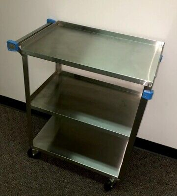 Cart Stainless Lakeside 311 3-tier Utility Doctor Office Restuarant Food Tattoo