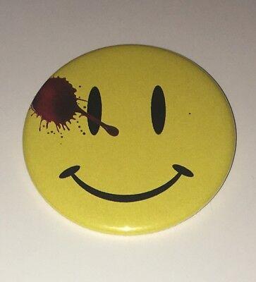 "Watchmen Button Pin Badge 2.25"" Smiley Face DC Doomsday Clock Flash 22 Batman - Flashing Smiley"