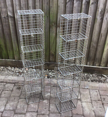 Vintage Original Galvanised Wire Shelf Pigeon Hole Rack Storage Unit ( 1 Of 2 )