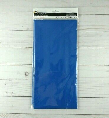 Plastic Tablecloth Tablecover Rectangle Party Picnic Solid Blue 52x70](Picnic Tablecloth)