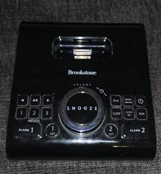 Brookstone iDesign Cube Clock Radio Alarm Clock For iPod and iPhone Dock TESTED