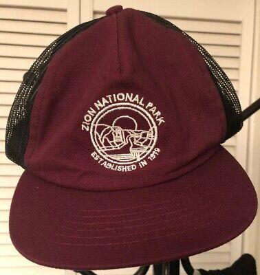 ZION Citizen Park Baseball Style Hat Cap Burgundy Color Adjustable