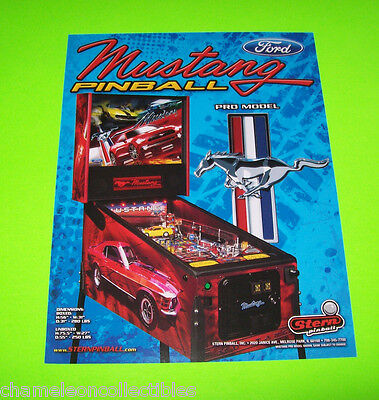 MUSTANG PRO By STERN ORIGINAL PINBALL MACHINE SALES FLYER BROCHURE MILD CREASE
