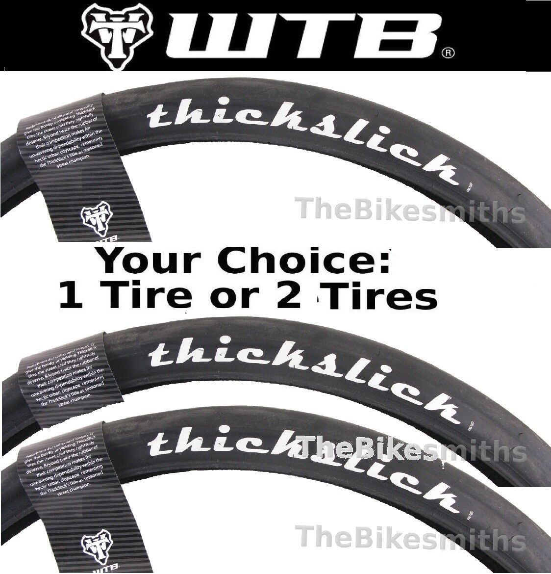"""1 or 2-Pack WTB Thickslick Comp 29x 2.10"""" Fast Smooth Slick"""