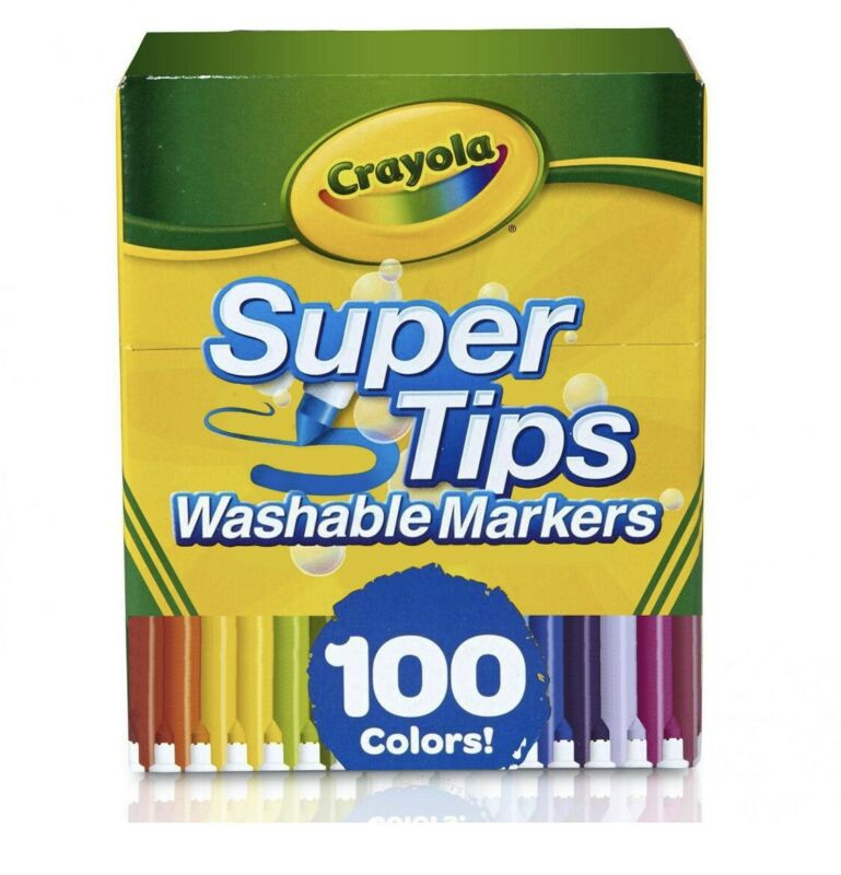 Crayola Super Tips Washable Markers - 100 Count ( Brand New ) Ships Today