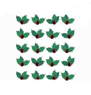 Jolee's Holly Repeats 3D Stickers Christmas Cards Scrapbooking Glitter (3 Leave Holly)