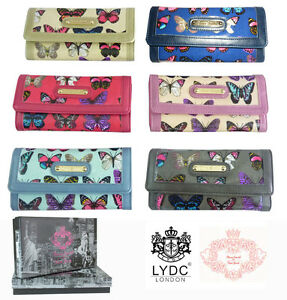 New-LYDC-Purse-Butterfly-Print-Oilcloth-Patent-Ladies-Wallet-Boxed-Gift-Designer