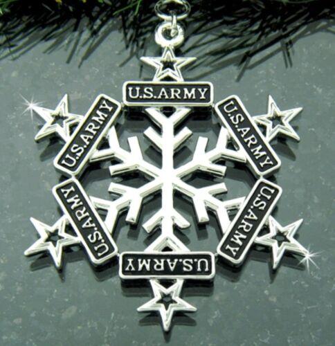 Pewter US Army Star SnowWonders® Snowflake
