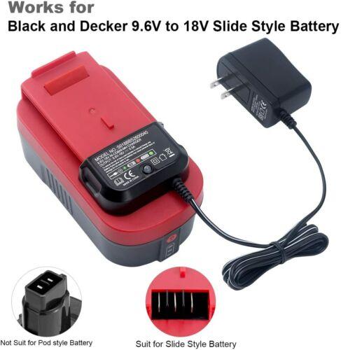 9.6V-18V Battery Charger for Black & Decker HPB18 HPB18-OPE FSB18 HPB14 HPB12