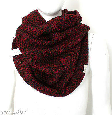 SCALDACOLLO SCIARPA UOMO SELECTED HOMME MISTO LANA BORDEAUX IDEA REGALO NATALE