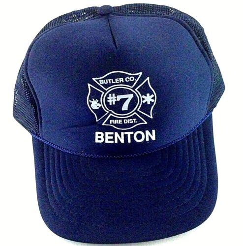 Firefighters Ball Cap Hat Trucker Style Butler Co. Benton District 7 Wells KS