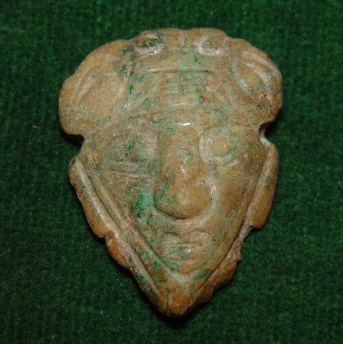 "Authentic PRE-COLUMBIAN TOLTEC - MAYAN- AZTEC JADE Pendant of GOD "" TLALOC """