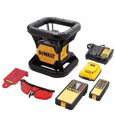 Dewalt Dw074lr 20v 1500 Foot Range Cordless Self Leveling Red Rotary Laser