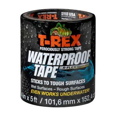 T-rex Waterproof Tape 4 In. X 60 In. Black