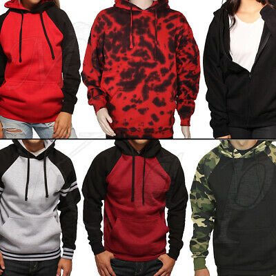 Pullover Hoodie Sweatshirt Hooded Men Women Camo Fleece Heavyweight Solid Jumper Camo Hooded Pullover