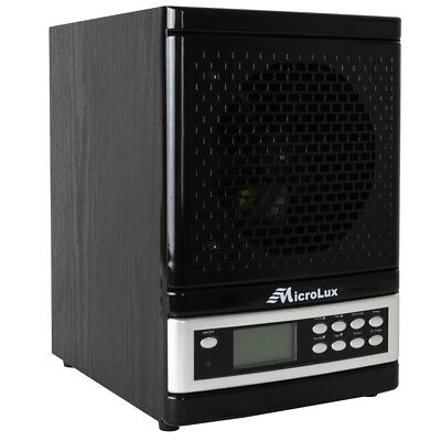 MicroLux ML4000D Pro UV Air Purifier HEPA Carbon Ion Air Cleaner - -