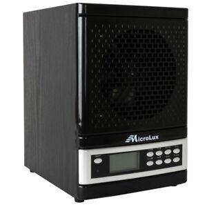 MicroLux ML4000D Pro UV Air Purifier HEPA Carbon Ion Air Cleaner - ML4000DBK
