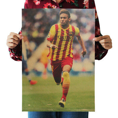 US Seller- home decor ideas FC Barcelona Neymar Soccer Football sports poster