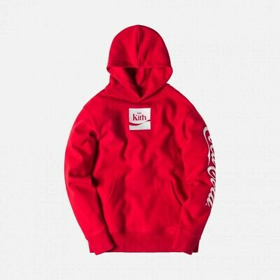 Kith x Coca Cola Across The Globe Rare Small Red Box Logo Hoodie