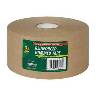 Duck Reinforced Kraft Gummed Paper Tape 2 34 X 125 Yd. Brown   Se3