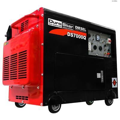 Duromax 6500 Watt Enclosed Diesel Portable Generator - Remote Start