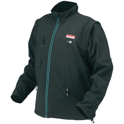 2-XL Black Makita 12 Volt Li Lithium-Ion Cordless Heated Hoodie Jacket Coat