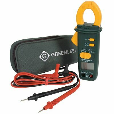 Greenlee Cm-410 400-amp Durable Ac Audible Data Clamp-on Meter