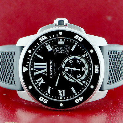 Cartier Calibre Diver Black Roman 42mm Automatic Watch WSCA0006 Box&Papers $8950