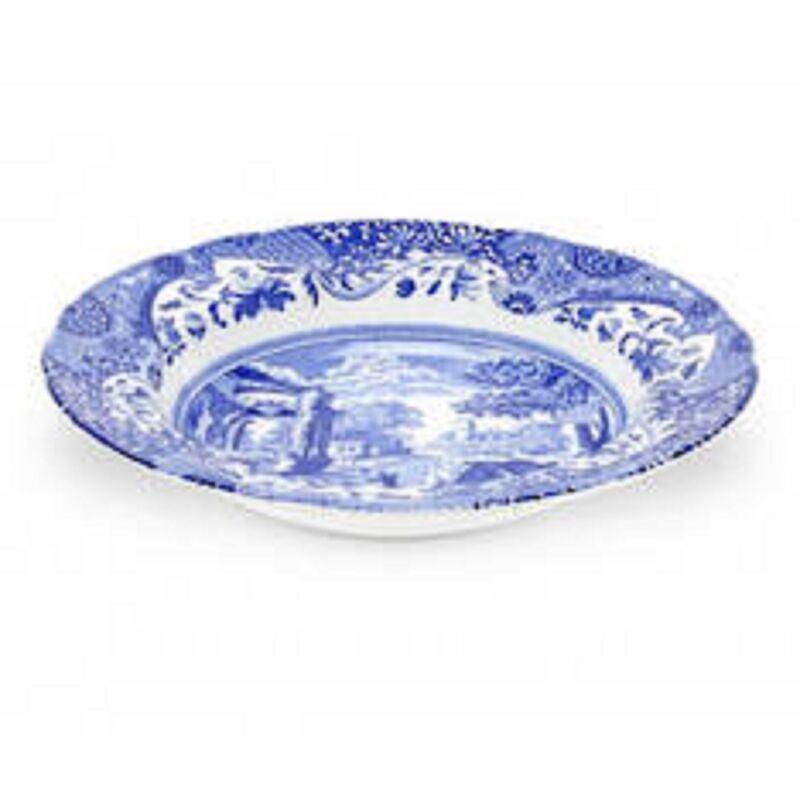 Spode Blue Italian set of 4 rim soup bowls