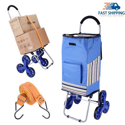 Foldable Shopping Cart Heavy Duty Grocery Cart With Rubber Tri-wheel Us