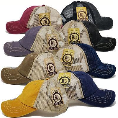 Womens Trucker Hat (Women Men Baseball Hat Pigment Low Profile Washed Mesh Trucker Golf Summer)