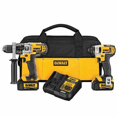 DEWALT DCK290L2 20-Volt MAX Li-Ion 3.0 Ah Hammer Drill and I