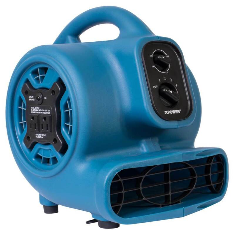 XPower P-230AT 1/4-Hp 2.3-Amp 925-Cfm Electric Mini Mighty Air Mover - Blue