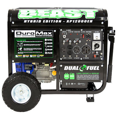 DuroMax 12000 Watt 18hp Manageable Hybrid Gas Propane Generator RV Home Standby