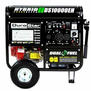 DuroStar 10000 Watt Hybrid Dual Fuel Portable GasPropane Generator -RV  Standby