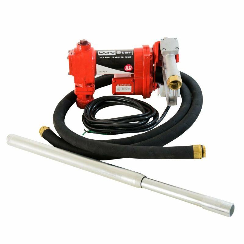 DuroStar DSTP20 12-Volt 20-Gpm Ball Bearing Cast Iron Fuel Transfer Pump