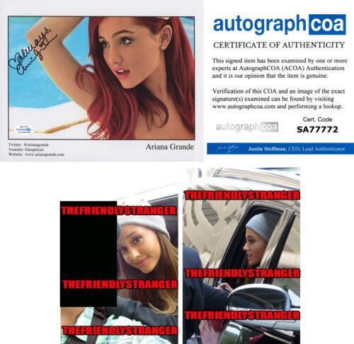 Rare ARIANA GRANDE signed Autographed 8X10 PROMO PHOTO - PROOF - Sexy ACOA COA