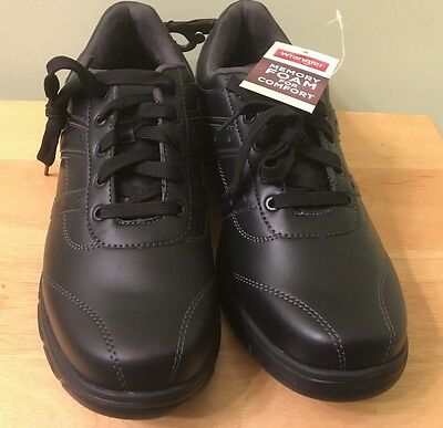 Wrangler Memory Foam Casual Black Lace Up Shoes - Men's Size 8.5 - New