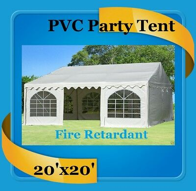 PVC Party Tent 20' x 20' (FR) Fire Retardant - Party Wedding Canopy White