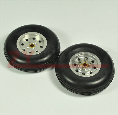 Hub Solid Rubber Wheels - 1 Pair 2.5inch Solid Rubber Wheels with Alu Hub For RC Airplane H20mm ZY NEW