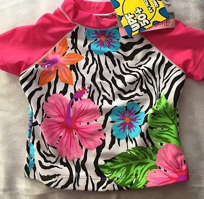 Girls 4T Boutique Flapdoodles Zebra Swim Shirt Rash Guard NEW NWT Pink S/S](Pink Zebra Boutique)