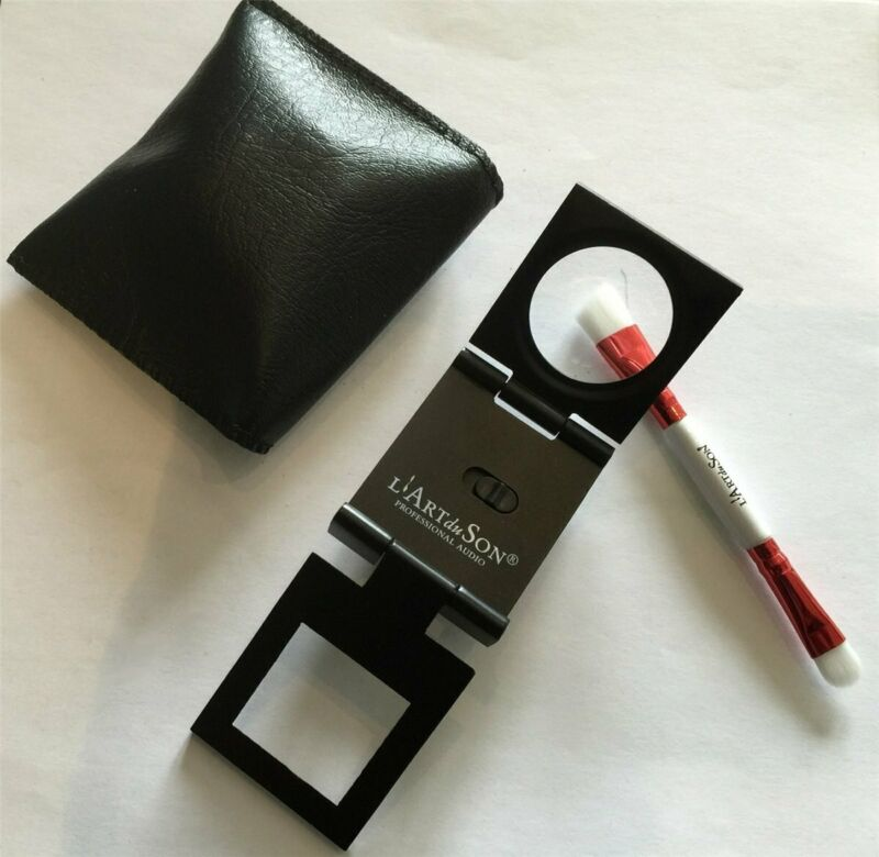 L'Art Du Son Pickup Nail Cleaner Magnifying Glass Brush