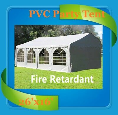 PVC Party Tent 26' x 16' (FR) Fire Retardant - Party Wedding Canopy White