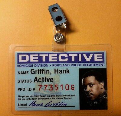 Grimm Tv Serien Id-Plakette - Detektiv Hank Griffin Kostüm Requisite Cosplay