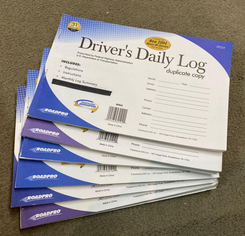 Drivers Daily Log Duplicate Copy (6 Books)