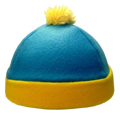 Eric Cartman South Park Costume Hat Blue Yellow Fleece Winter Ski Cap TV Cosplay