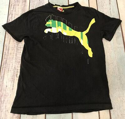 Vintage PUMA Logo T Shirt Tee Black | Medium M