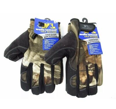 New Wells Lamont Camo Touch Screen Cold Weather Work Gloves L 7751l Camouflage